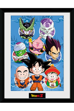 Dragonball Z Framed Poster Chibi Characters 45 x 34 cm