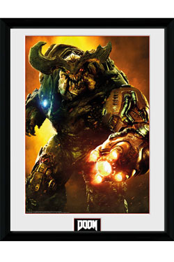 Doom Framed Poster Cyber Demon 45 x 34 cm