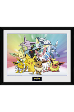 Pokemon Framed Poster Eeevee & Friends 45 x 34 cm