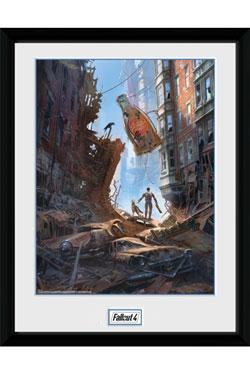 Fallout Framed Poster Street Scene 30 x 40 cm