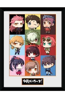 Kabaneri of the Iron Fortress Framed Poster Chibi 45 x 34 cm