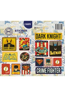 DC Comics Vinyl Sticker Pack Retro (10)