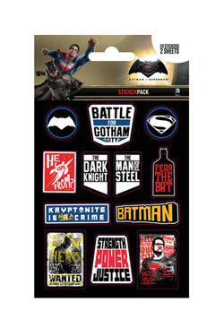 Batman v Superman Vinyl Sticker Pack Slogans (10)