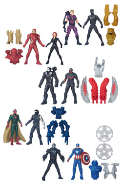 Avengers Miniverse Action Figures 6 cm 2-Packs 2016 Wave 1 Assortment (8)