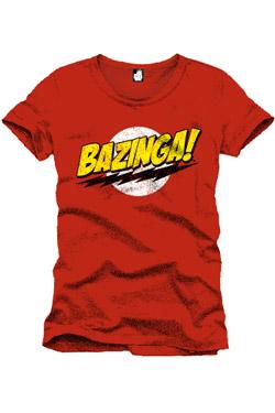 The Big Bang Theory T-Shirt Bazinga red Size XL
