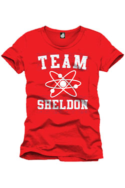 The Big Bang Theory T-Shirt Team Sheldon red Size S