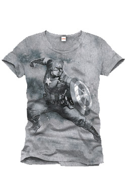 Captain America T-Shirt Fight Position Size L