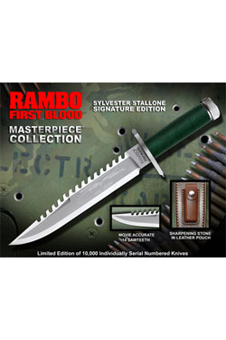 First Blood Replica 1/1 Knife Sylvester Stallone Signature Edition 36 cm
