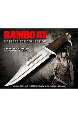 Rambo III Replica 1/1 Knife Sylvester Stallone Signature Edition 46 cm