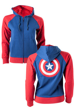 Captain America Ladies Hooded Sweater Shield Logo Size M