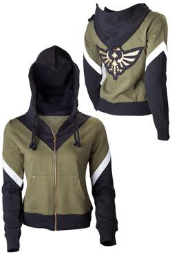 The Legend of Zelda Ladies Hooded Sweater Zelda Size S