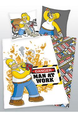 Simpsons Duvet Set Man At Work 135 x 200 cm / 80 x 80 cm