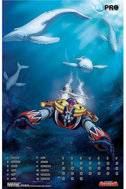UFO Robot Grendizer Magnetic Calendar Protect the Earth with Grendizer #2 Ocean