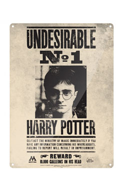 Harry Potter Tin Sign Undesirable No. 1 41 x 30 cm