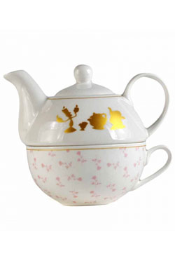 Beauty and the Beast Teapot & Mug Floral