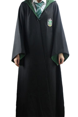 Harry Potter Wizard Robe Cloak Slytherin Size M
