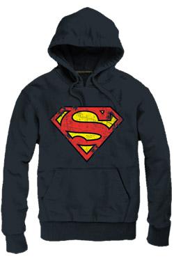 Superman Hooded Sweater Logo black Size M