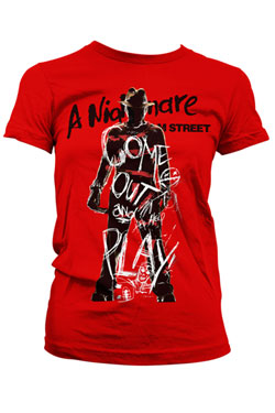 Nightmare on Elm Street Ladies T-Shirt Come Out And Play Size M