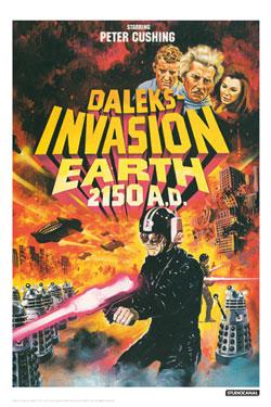 Doctor Who Art Print Invasion Earth Illustrative 42 x 30 cm