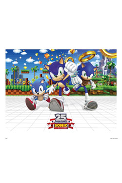 Sonic The Hedgehog Art Print 25th Anniversary 35 x 28 cm
