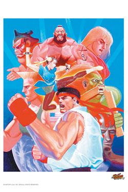 Street Fighter Art Print Hadouken 35 x 28 cm