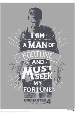 Uncharted 4 Art Print A Man Of Fortune 42 x 30 cm