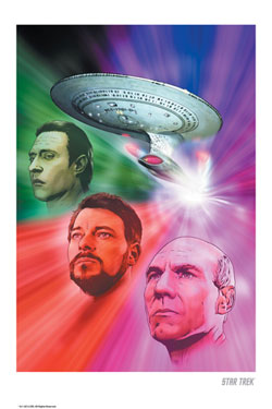Star Trek Art Print The Next Generation 42 x 30 cm