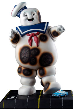 Ghostbusters Statue Stay Puft Burnt Variant 46 cm