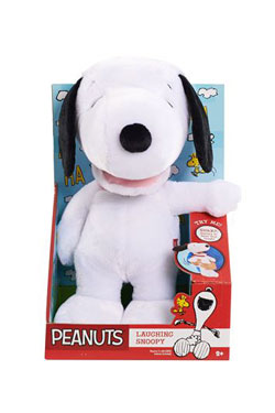 Peanuts Plush Figure with Sound Laughing Snoopy 28 cm