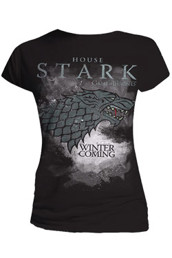 Game Of Thrones Ladies T-Shirt Stark Houses Size XL
