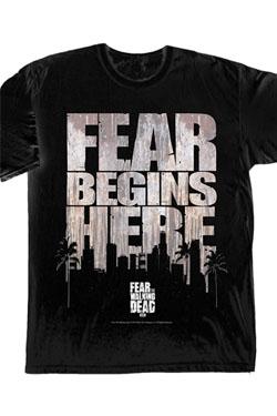 Fear The Walking Dead T-Shirt Fear Begins Here Size M