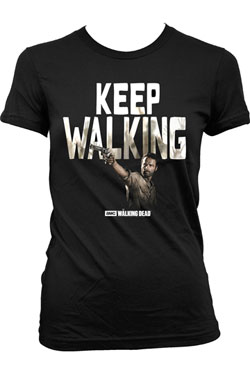 Walking Dead Ladies T-Shirt Keep Walking Size L