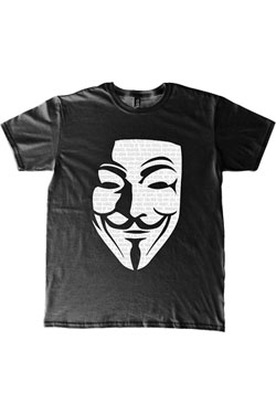 V for Vendetta T-Shirt Mask Size M