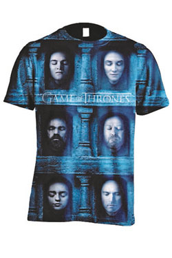Game of Thrones Sublimation T-Shirt Death Masks Size XL