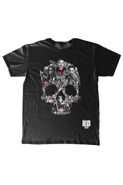The Walking Dead T-Shirt Skull Montage Size L
