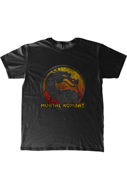Mortal Kombat T-Shirt Logo Size S