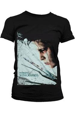Edward Scissorhands Ladies T-Shirt Profile Poster  Size S