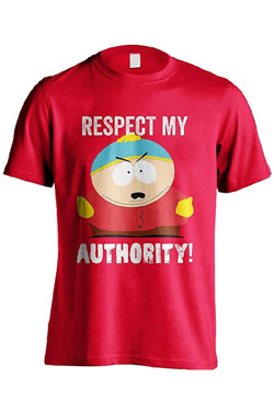 South Park T-Shirt Respect My Authority Size S