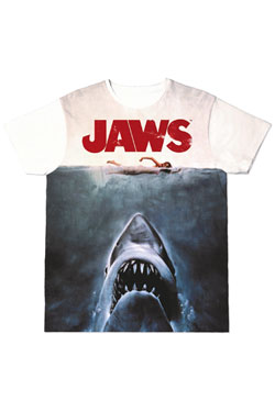 Jaws Sublimation T-Shirt Shark  Size XL