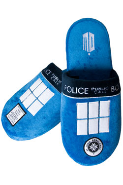 Doctor Who Slippers Tardis  Size L