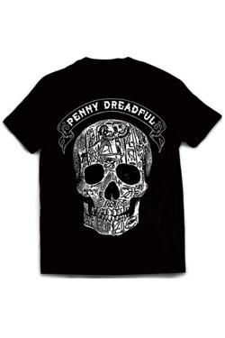 Penny Dreadful T-Shirt Skull Black Engraving Size L