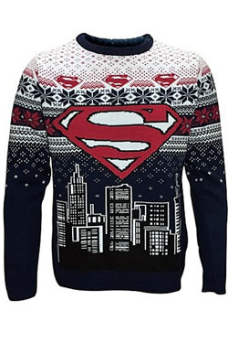 DC Comics Knitted Sweater Superman Christmas  Size S