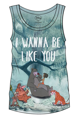 The Jungle Book Sublimation Girlie Tank Top I Wanna Be Like You  Size M
