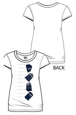 Doctor Who Ladies T-Shirt Twisting Tardis Size M