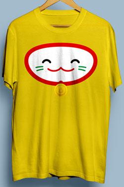 Droplets T-Shirt Meow Size M