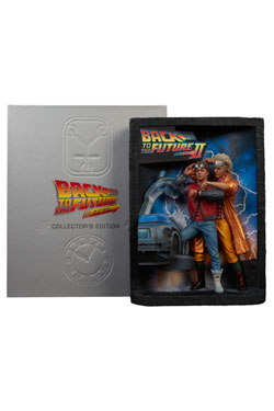 Back to the Future Diorama Sculpted Movie Poster & Ultimate Visual History Collectors Edition