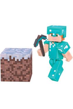 Minecraft Action Figure Alex In Diamond Armor 8 cm