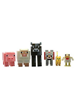 Minecraft Action Figures 6-Pack Animals 6 cm