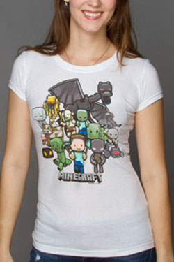 Minecraft Premium Ladies T-Shirt Party Size L