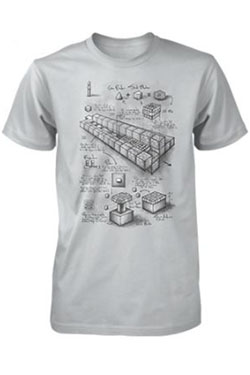 Minecraft Premium T-Shirt Blueprint TNT Cannon Size L
